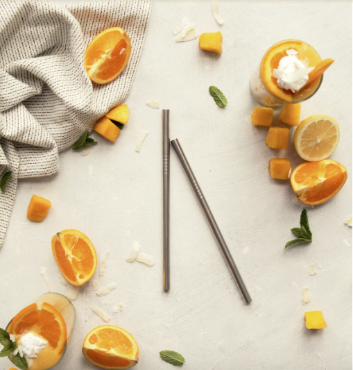 Eco Stainless Steel Straight Straw (Single)