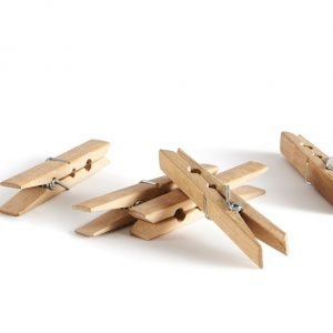 10x Large Bamboo Pegs