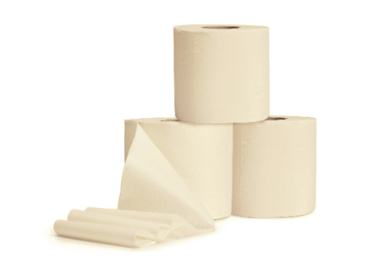 Bamboo toilet paper – 4 extra long rolls (without wrappers)